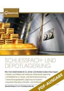 """Ratgeber """"Schließfach- und Depotlagerung"""", Gold lagern, Tipps, Schließfächer"""