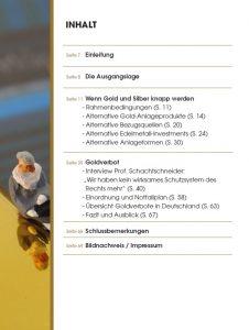 """Inhalt: """"Notfallplan für Goldanleger"""""""